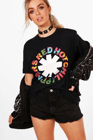 #boohoo License Red Hot Chilli Peppers Band T-Shirt - #Kate License Red Hot Chilli Peppers Band T-Shirt - black