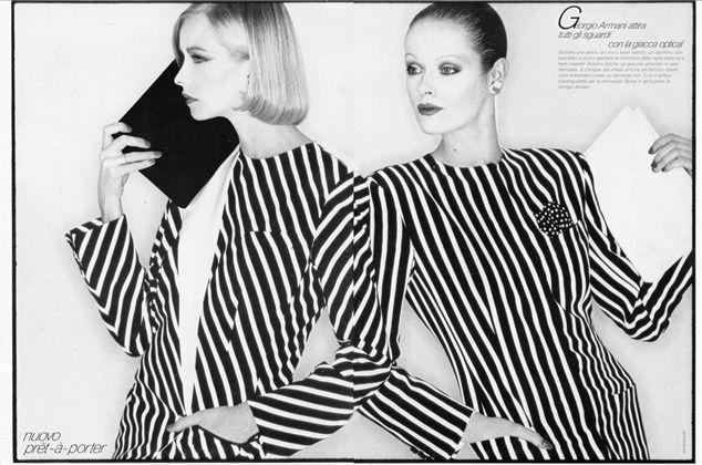 Giorgio Armani  Photo by David Bailey   Vogue Italia1980