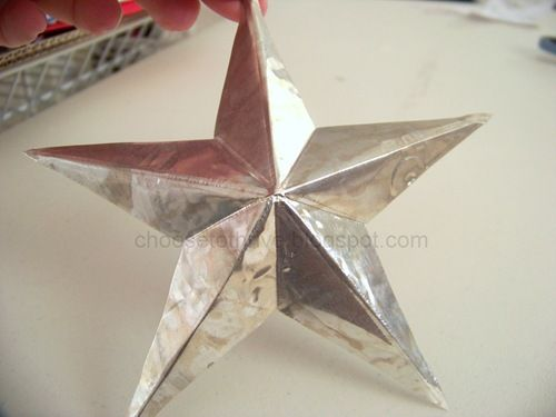 DIY stars out of disposable foil pans #tutorial