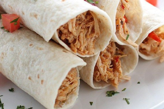 Simple Creamy Shredded Chicken Fajitas |