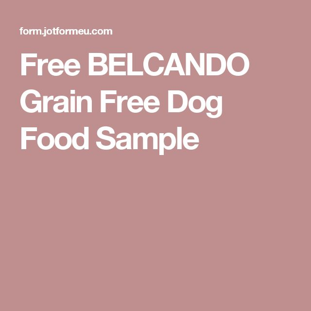 Free BELCANDO Grain Free Dog Food Sample