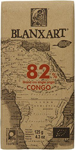 Blanxart 82% Congo Eco Bar, 4.4 Ounce (Pack of 16) - http://www.chocolatepacket.com/blanxart-82-congo-eco-bar-4-4-ounce-pack-of-16/