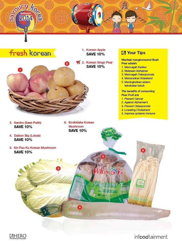 Ingin mendapatkan Fresh Fruit dan Vegetables dari Korea dengan harga ekonomis? Ayo belanja di Hero sekarang juga