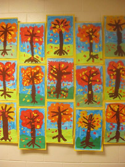 Label the parts of the tree ... fall tree painting