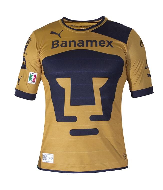 Netshoes presenta el nuevo jersey del Club Pumas de la UNAM, a través del portal www.tiendapumas.com lo pueden enviar en 48hrs a tu casa. Aquí la camiseta de local.