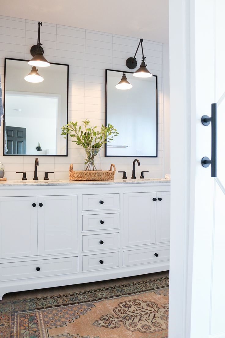 Master Meuble Modern Farmhouse Master Bathroom Renovation With Delta The