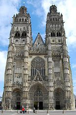 Gothic architecture. The Cathedral of Saint-Gatian, Tours, France.  - Wikipedia, the free encyclopedia.  Gothic architecture grew out of the previous architectural genre, Romanesque. For the most part, there was not a clean break, as there was to be later in Renaissance Florence with the revival of the Classical style by Filippo Brunelleschi in the early 15th century, and the sudden abandonment in Renaissance Italy of both the style and the structural characteristics of Gothic.