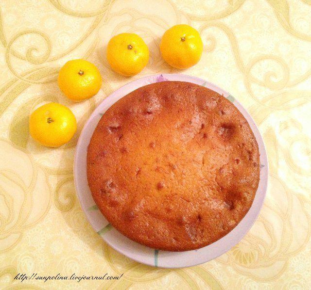 Солнечная - Мандариновый пирог с шоколадно-ореховой пастой