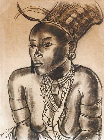 Portrait of a Zulu princess By Irma Stern 1935
