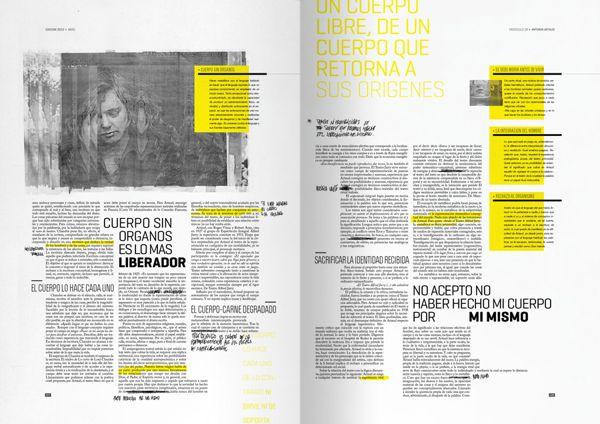 FASCÍCULO ARTAUD ; editorial on Behance