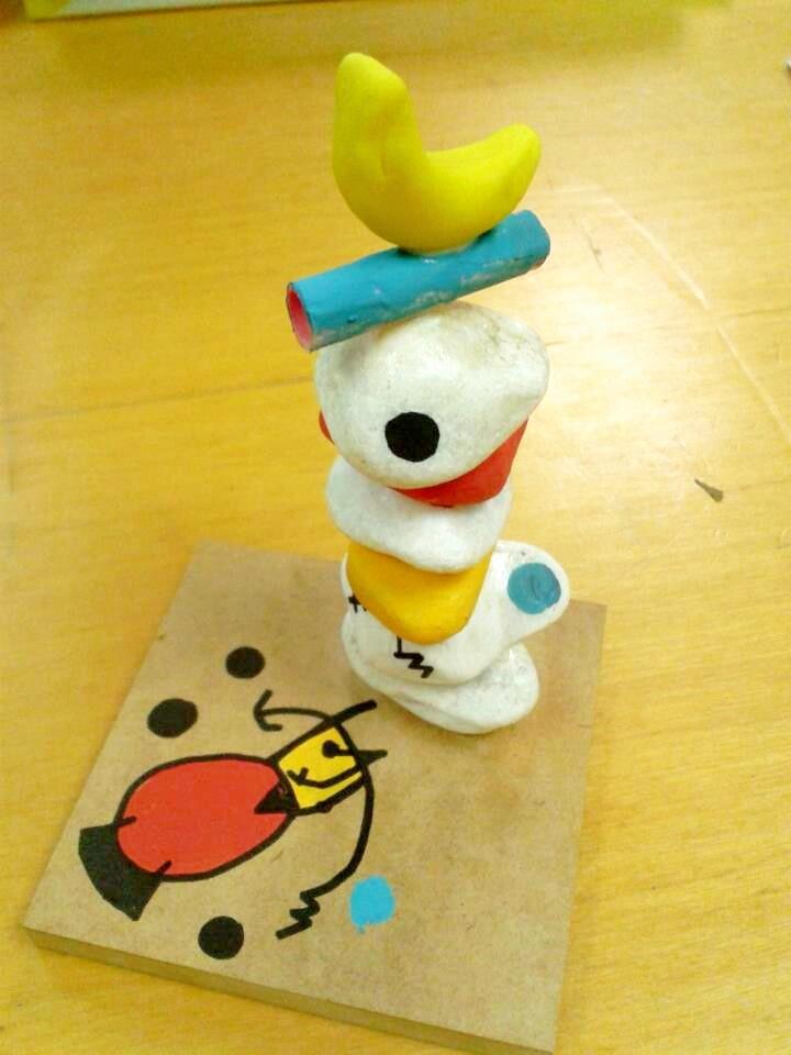 Estudiando a Miró en educ. Infantil: escultura http://www.pinterest.com/quadratsrodons/