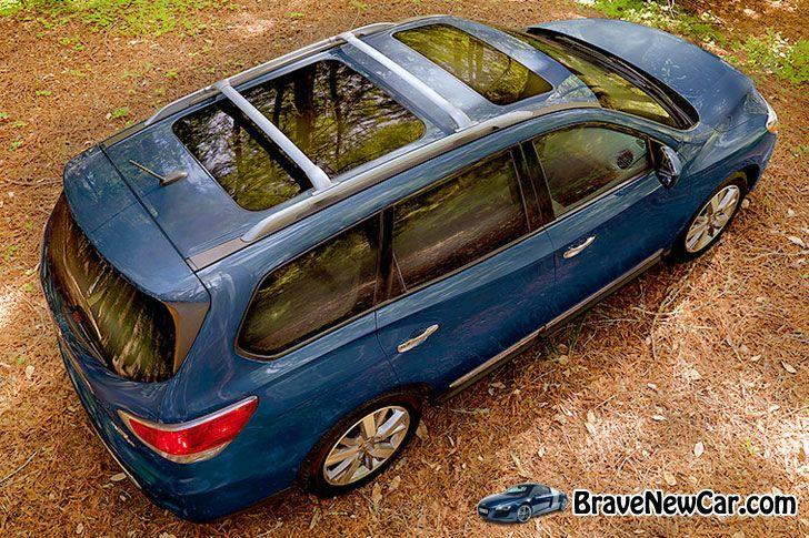 2015 Nissan Pathfinder rear above view