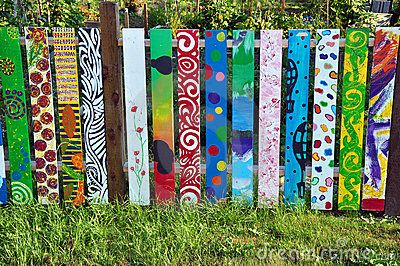 Colorful Painted Fence - Download From Over 45 Million High Quality Stock Photos, Images, Vectors. Sign up for FREE today. Image: 15651829
