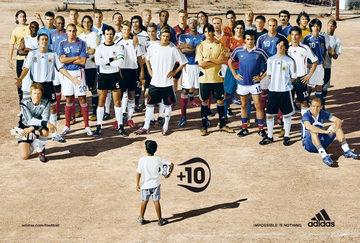 Jose +10. The last great adidas football campaign from 2006. Credit to 180 Amsterdam.