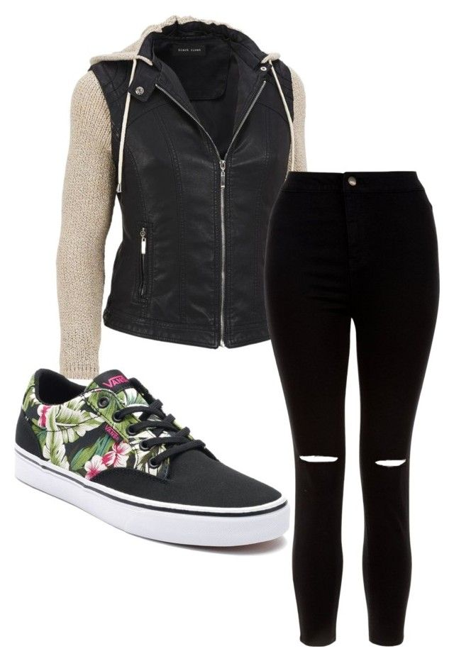 """""""Untitled #58"""" by kristyna-r on Polyvore featuring New Look, Vans and plus size clothing"""