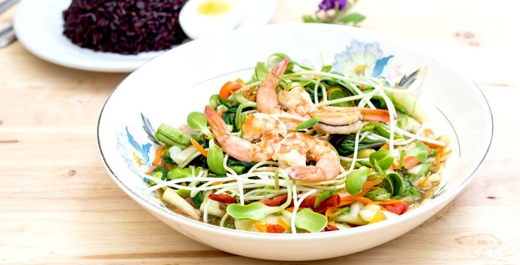 This is the perfect healthy summer salad! If you don't like prawns you can swapthem with some grilled chicken, or tofu for a vegetarian version instead. I love eating these types of salad's when I eat out, so it'sgreat to be able to make them at home so easily. Serves 1 Ingredients:100g peeled, cooked prawns, deveined60g rice vermicelli noodles, uncooked1 spring onion, finely sliced50g alfalfa sprouts½ medium carrot, cut into thin matchsticks¼ medium red capsicum, cut into thin...