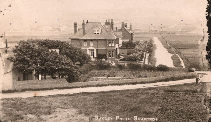 This is a picture of Southdown Road Seaford looking down from the top of Sutton Windmill. Mill House is in the fore front where my grandparents live from 1898 to 1928, note the front garden filled with vegetable's and more out of picture to the right, all to feed there family of ten )