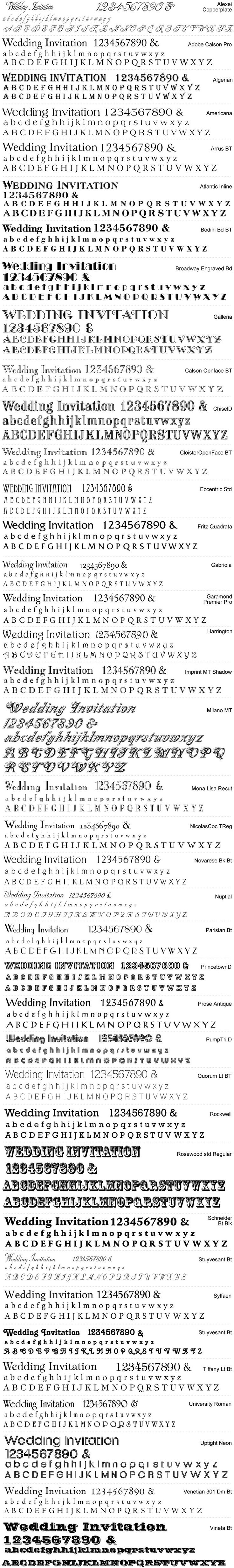 Artemis Stationery Vintage fonts choice