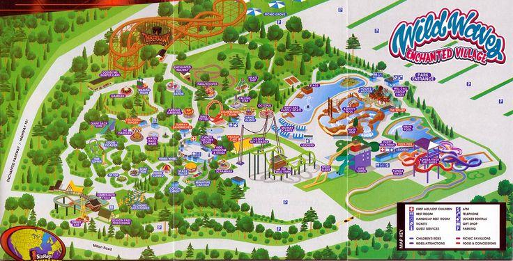 Wild Waves Theme Park Summer 2013 Theme Park Map Theme Park Fun Places To Go