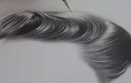 Tutorial - Drawing Hiperrealistic Hair in Pencil - Video Lessons of Drawing & Painting