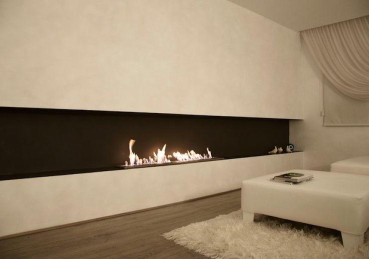 EcoSmart Fire XL900 bio-ethanol burner featured in Private Residence, Turkey Ethanol fireplace