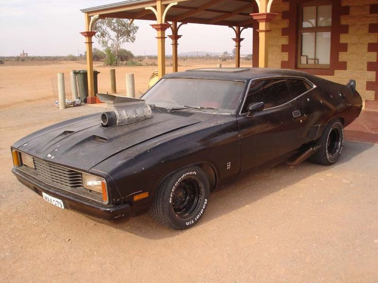 Souped up, bashed up and parked up - Interceptor (customised 1973 Aussie Ford Falcon XB GT Coupe) from Mad Max.