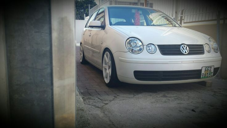 Vw polo 9n white on white