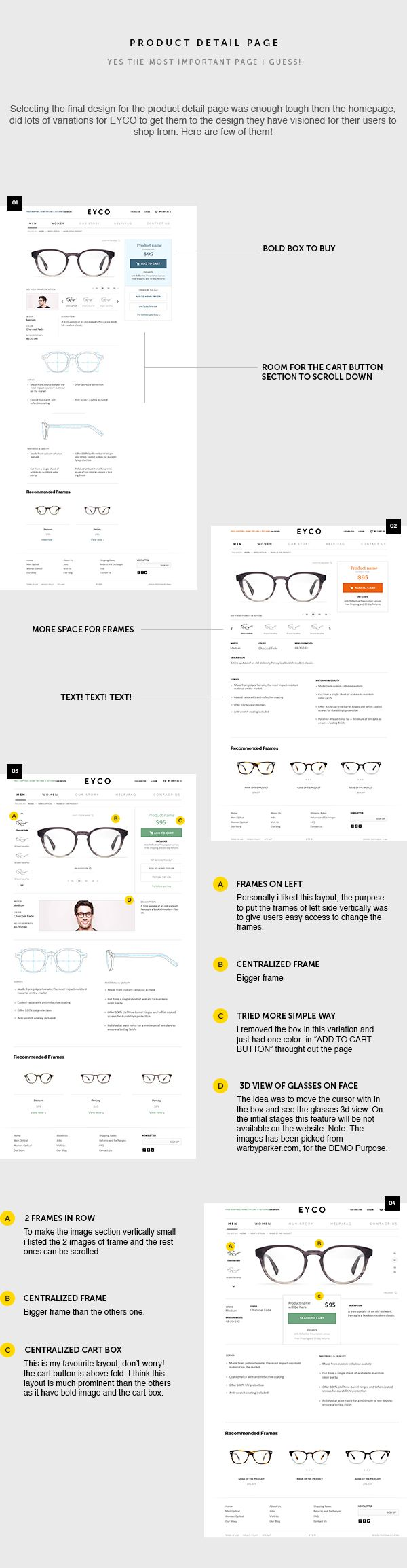 Eyewear Online Store (EYCO) on Web Design Served