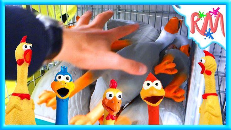 Хор Резиновых УТОК ! СМЕХОТА ! Кричащие Утки в Магазине Поют Хором @ РМ ...