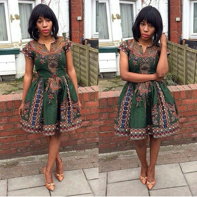 Simple Ankara Short Gown