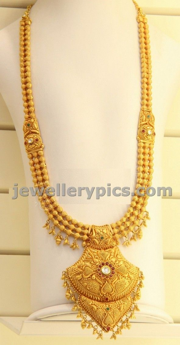 Gundla haram with locket by Kirtilal jewellers - Latest Jewellery Designs