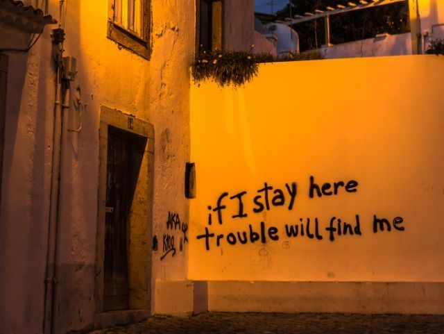 If I stay here, I'll never leave