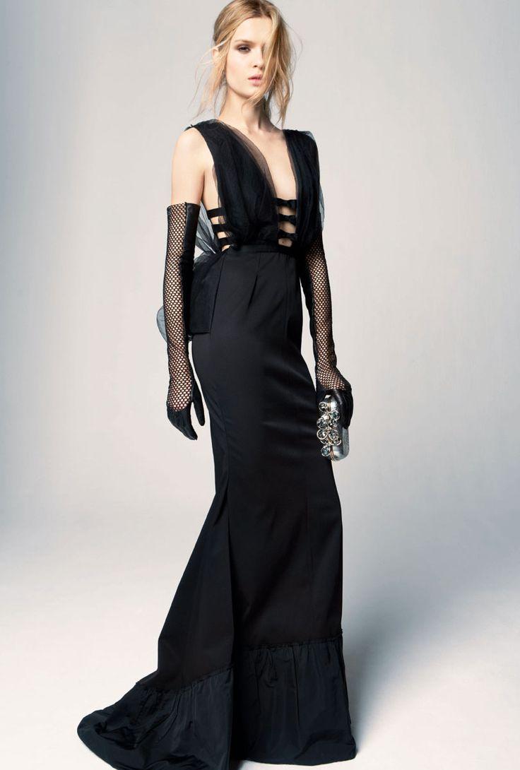 Black gloves evening wear - Nina Ricci1 Black Evening