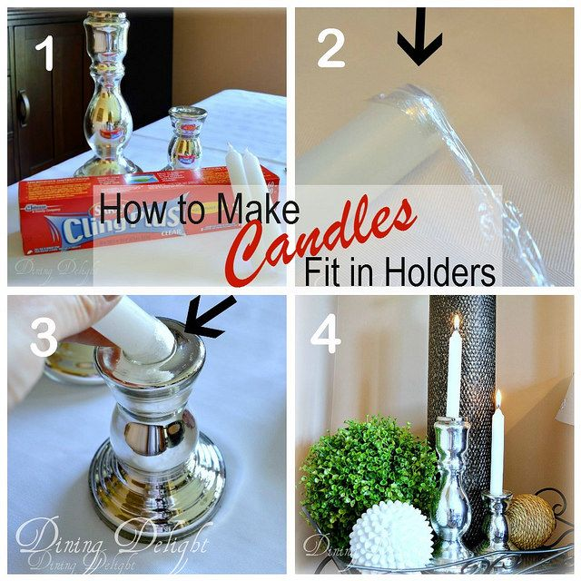 Dining delight how to make candles fit in holders easy