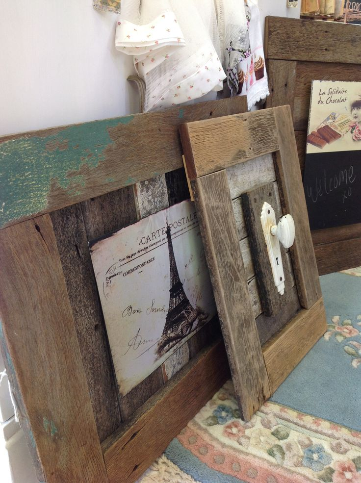 My husband made these frames from recycled timber and his amazing ability. They are sold thru my little store at My Beautiful Things Market at Vintage doily, shop 5, 16 Thurlow Street, Newmarket, Qld. Come for a visit xo