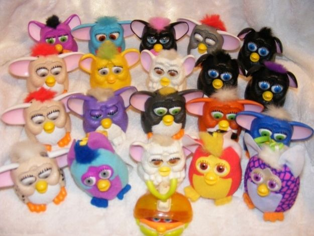 Mini Furbies (1999) | The 26 Most Awesome Happy Meal Toys Of The '90s