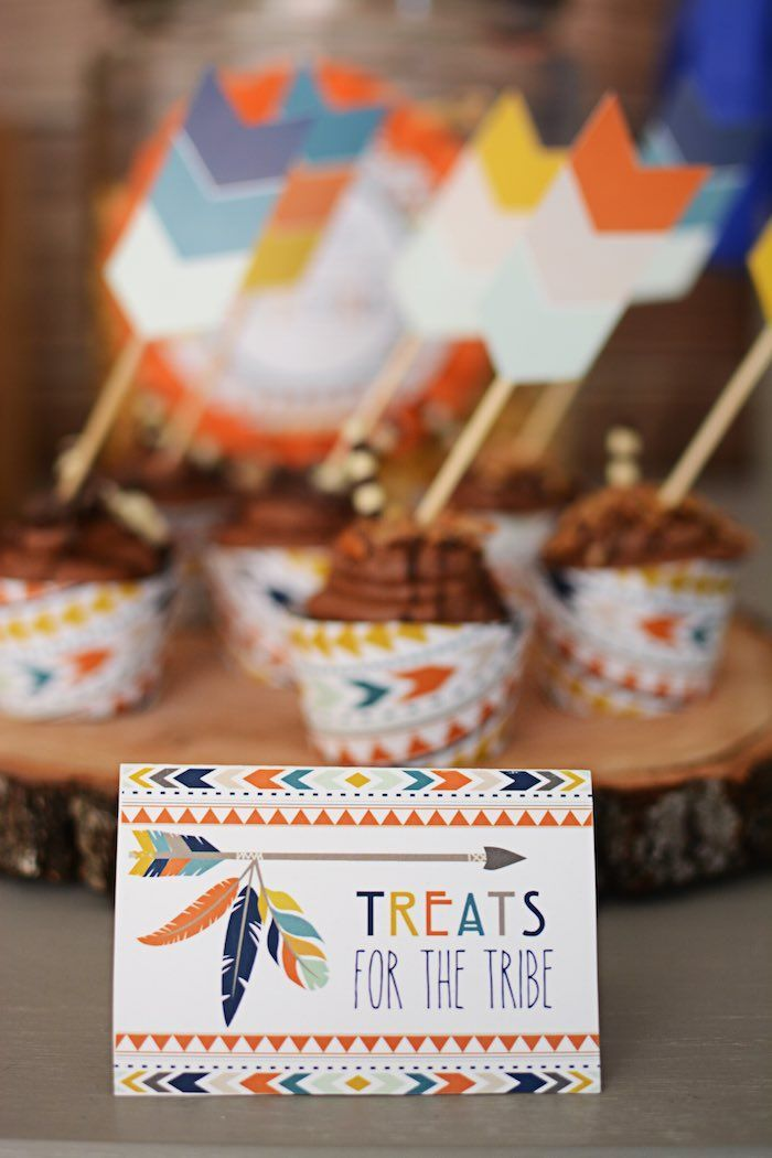Tribal Little Brave Man themed baby shower via Kara's Party Ideas KarasPartyIdeas.com #tribalbabyshower (18)