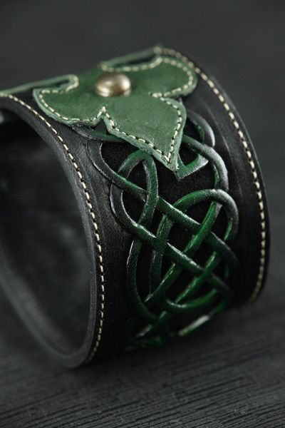 Ethos Custom Brands - Celtic Clover Cuff, $103.00 (http://www.ethoscustombrands.com/celtic-clover-cuff/)