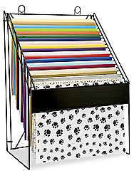 "Tissue Paper Rack in Stock - ULINE.  If I ever have a ""craft"" room.  I think I'll need this."