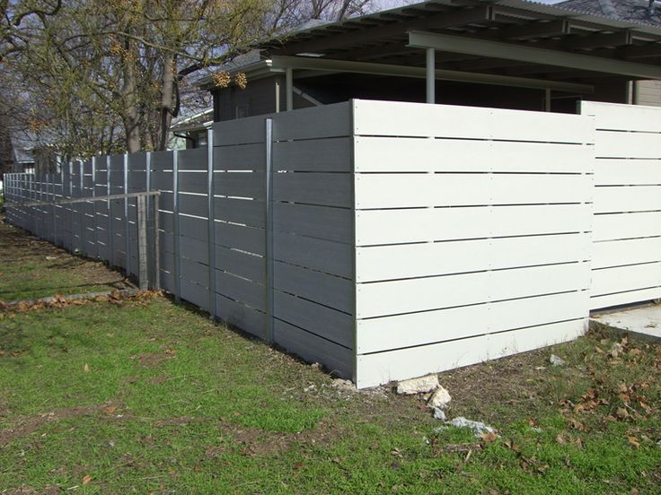 white horizontal wood fence. See Our Cedar Plank Wood And Privacy Fence Installation For The Austin, TX Surrounding Areas. White Horizontal O