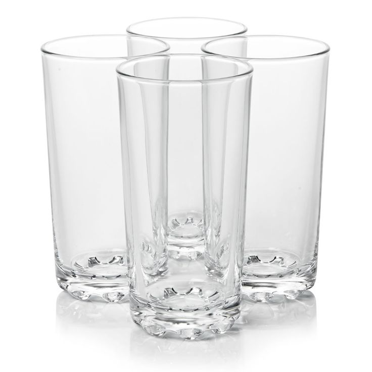 Wilko Everyday Value Hi-ball Glasses x 4