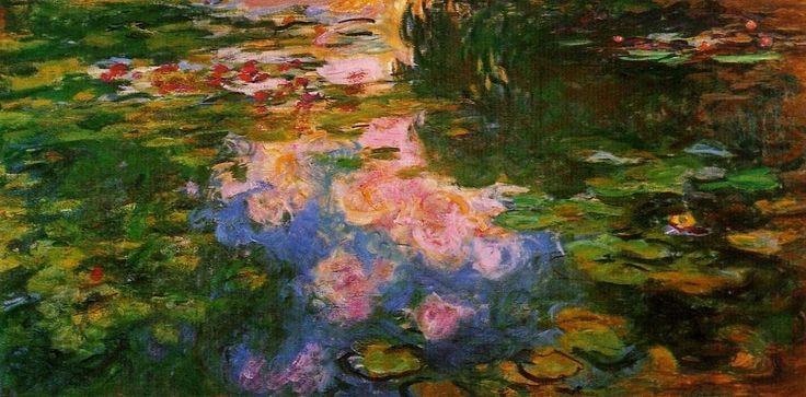 Acheter Tableau 'eau lys étang (8)' de Claude Monet - Achat d'une reproduction sur toile peinte à la main , Reproduction peinture, copie de tableau, reproduction d'oeuvres d'art sur toile