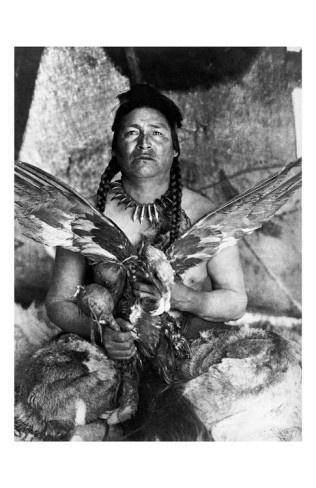 Placating the Spirit of a Slain Eagle, Assiniboine Sioux by Edward S. Curtis