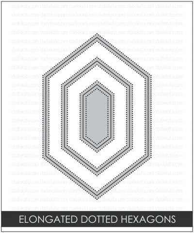 Studio Katia - Dotted Elongated Dotted Hexagons - Click Image to Close