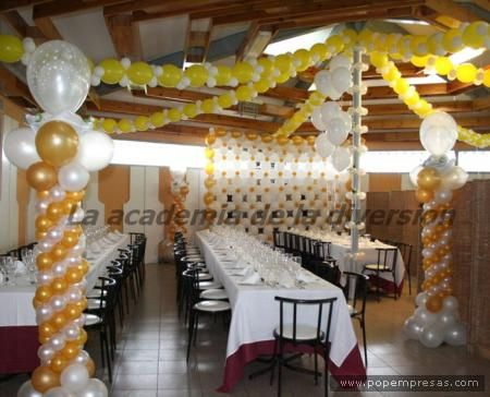 119 best images about decoracion con globos on pinterest - Arreglos de globos para boda ...
