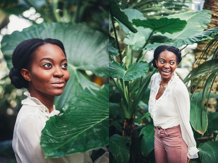 Palm Leaves, Greenhouse Washington, D.C. Portrait Photography