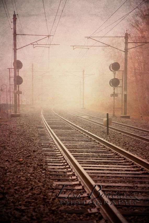 Rails+From+the+Mist++Nature+Photography++by+LisaBonowiczPhotos,+$80.00