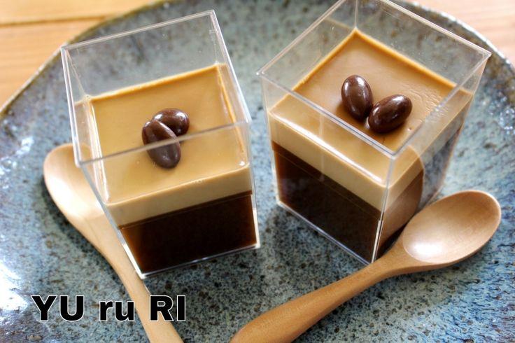 おすすめ!勝手に二層のコーヒームース&ゼリー   YU ru RI ~セミベジタリアンyuriのごはんとお菓子~