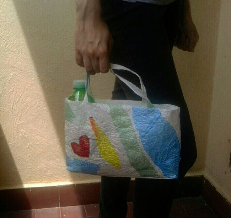. My ecobag #fusingplastic #upcycle