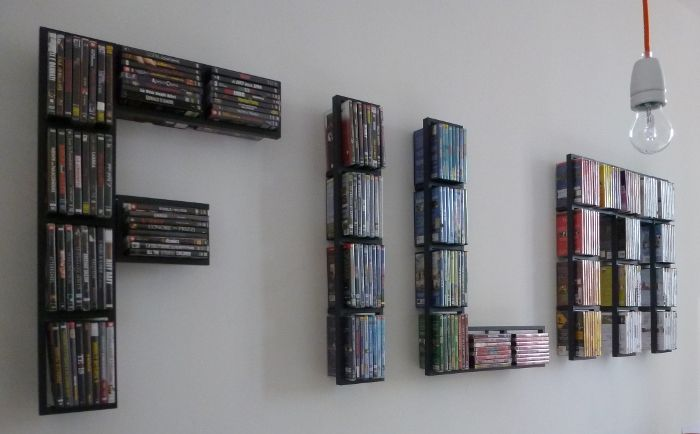 Clever way to store DVD/CDs. IKEA Hackers| Clever ideas and hacks for your IKEA